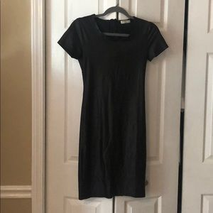 Anself faux leather dress